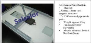 penyangga modul surya